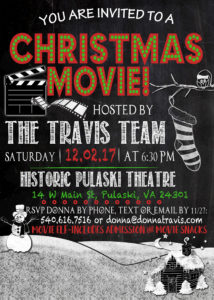Christmas Movie Invitation 2017