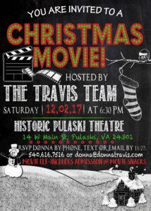 Christmas Movie Invitation 2017