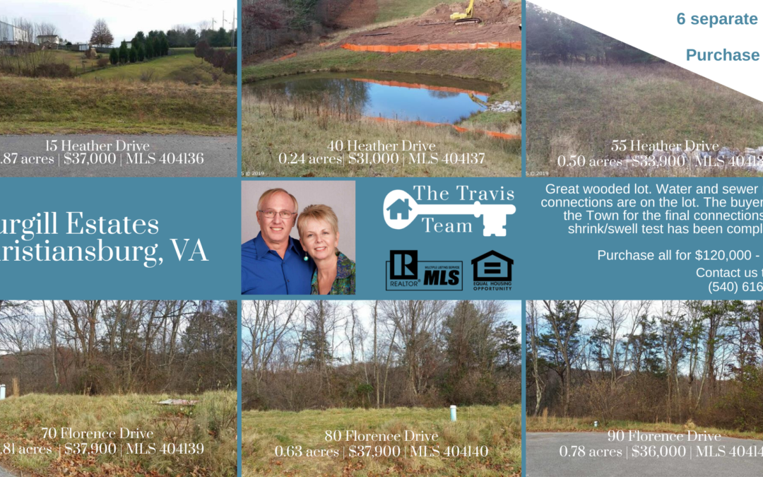 Sturgill Estates Christiansburg Lots for Sale