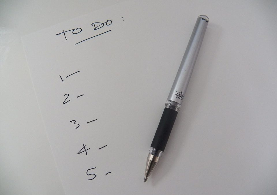 Household To-Do List for the New Year
